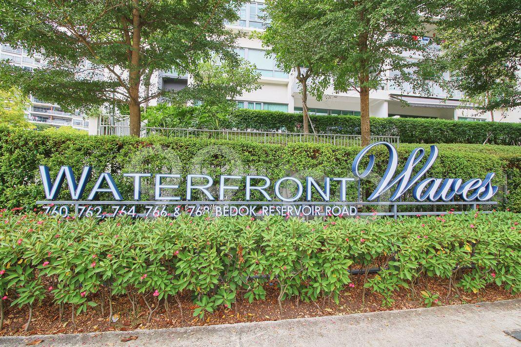 Waterfront Waves  Logo