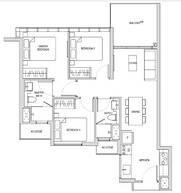 3 Bedrooms Type C1b