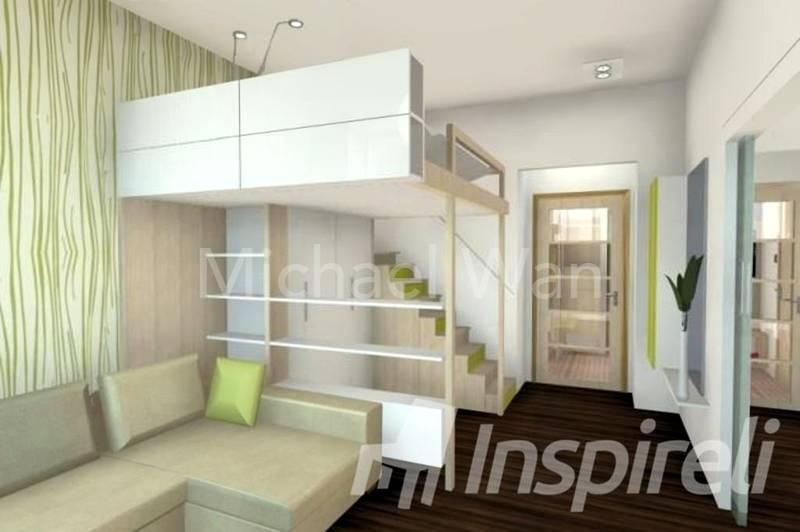 Mezzanine Concept 1- Bedroom on Mezzanine Deck