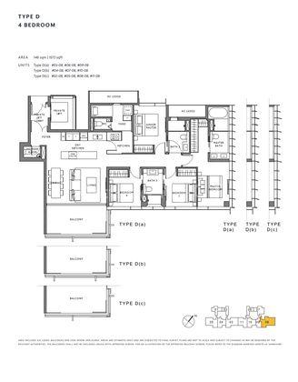 Type D-4 Bedroom 1,572 Sqft