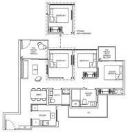 3 Bedrooms Type 3C1cG