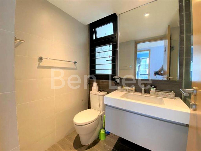 common bathroom with window allow ventilation