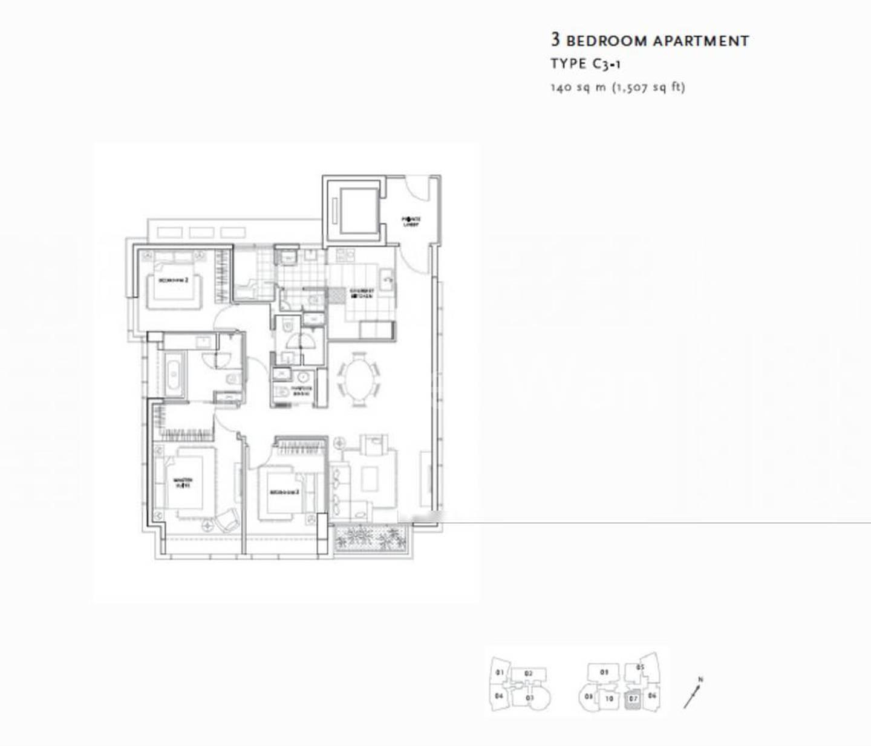St. Regis Residences #0x-07, 3Brms/1507sqft