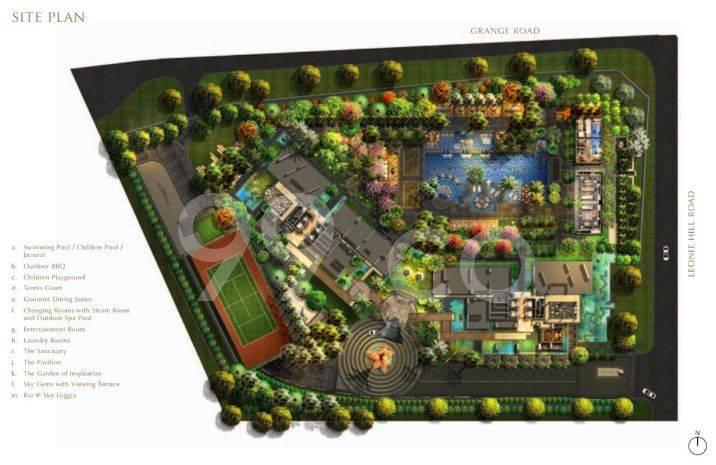 OUE Twin Peaks site plan