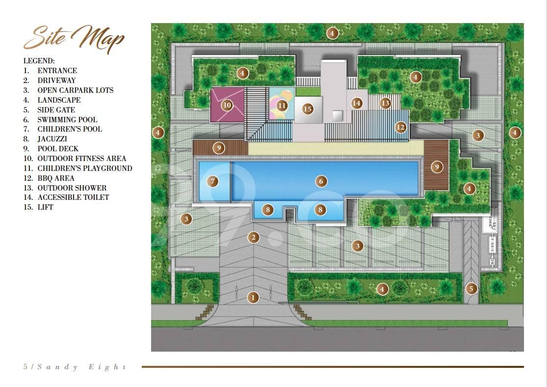 Sandy Eight site plan