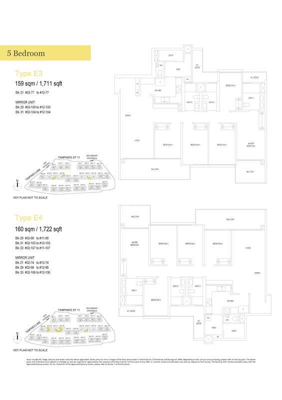 Type E4-5 Bedroom 1,722 Sqft