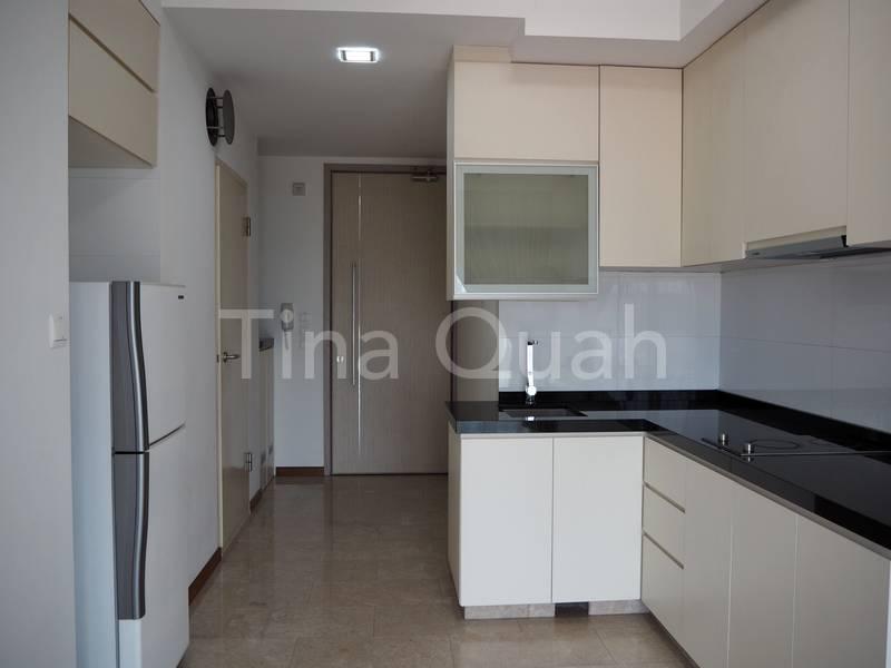 Kitchen + Living + Balcony