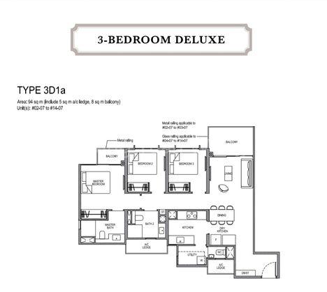 3 Bedroom Deluxe Layout