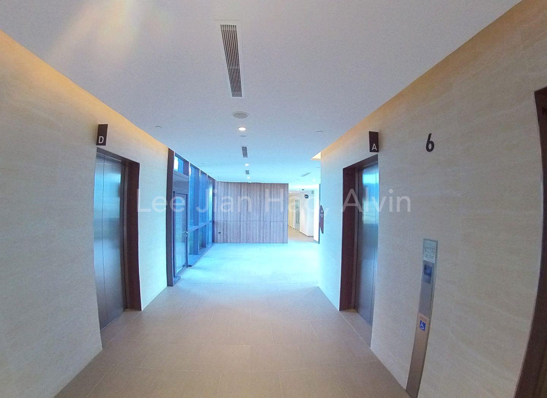 Lift lobby level 6