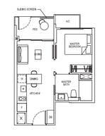 1 Bedroom Type 1B2G