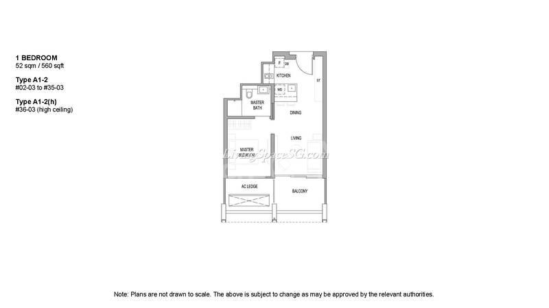 High Efficient Layout 560sqft 1 Bedroom Unit