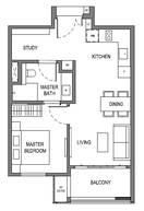 1 Bedroom Type A2b
