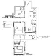 2 Bedrooms Type 2C3