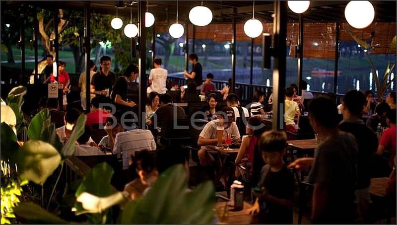 Punggol park restaurant for relax to enjoy greenery park