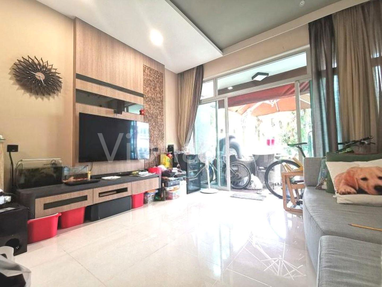 Renovated, spacious living area