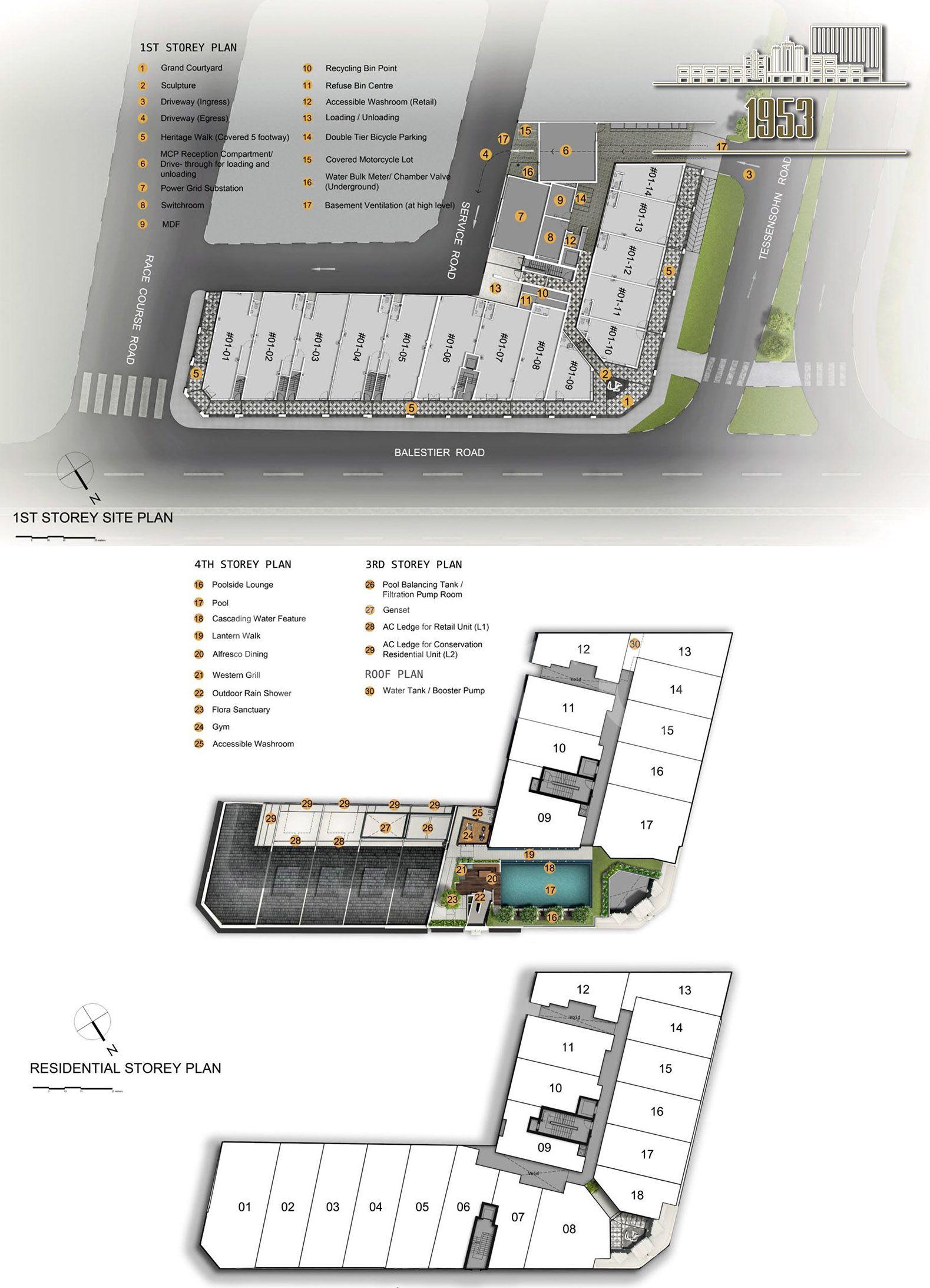 1953 site plan