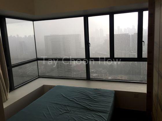 Bedroom 2 (panoramic city view)