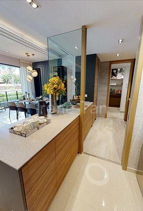 Kitchen towards yard & room