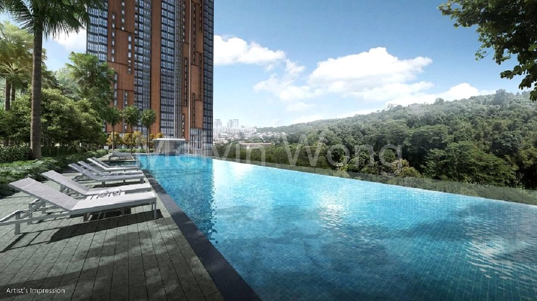 50m infinity pool at 7th floor