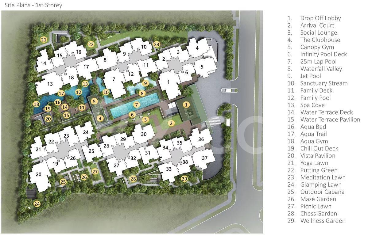 View at Kismis site plan