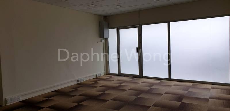 Wide frontage w glass door/window