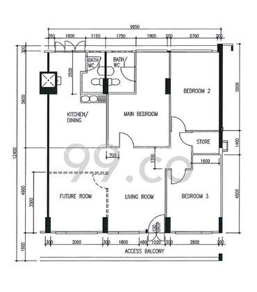 Floor plan for illustration purpose
