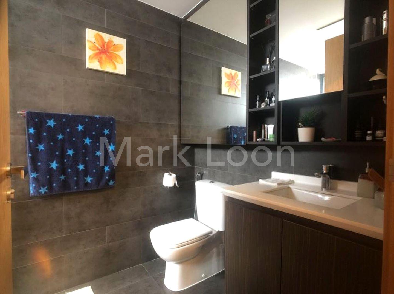 master bath with bath tub and shower