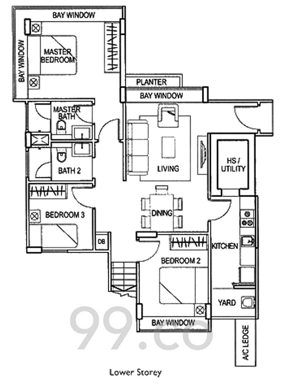 Lower Floor (Floor Plan)
