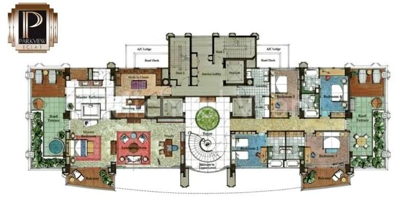 Parkview Eclat Super Penthouse (Lower) #2x-01/10,096sqft