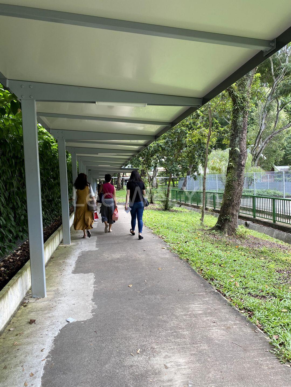 Covered walkway to mrt