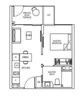 1 Bedroom Type 1B1G