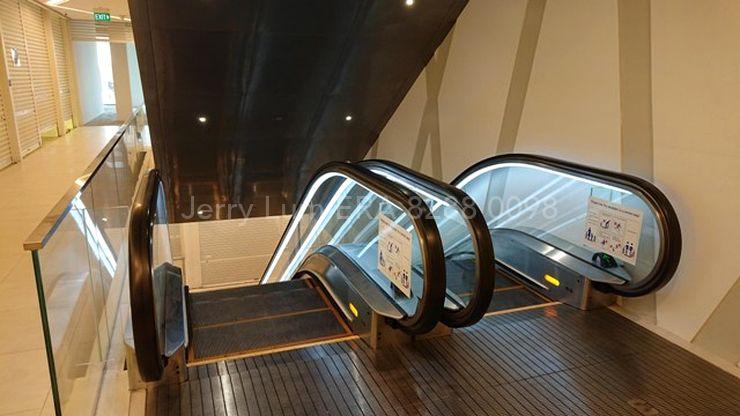 Faces the escalators