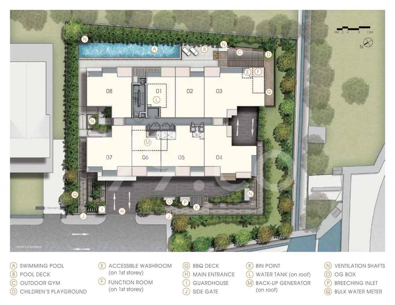 Jervois Treasures site plan