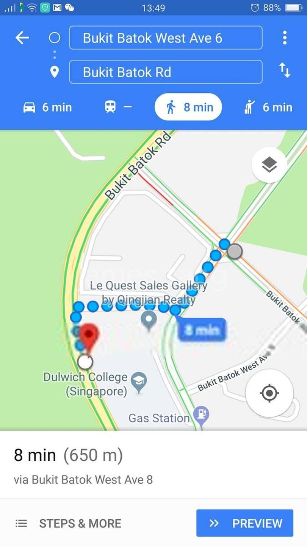 walk to MRT station