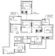 3 Bedrooms Type 3C1