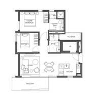 2 Bedrooms Type B3c