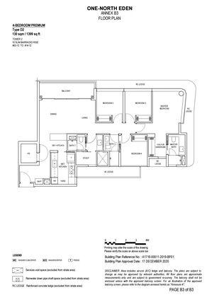 Type D2 - 4 Bedroom + Study Premium 1,399 Sqft