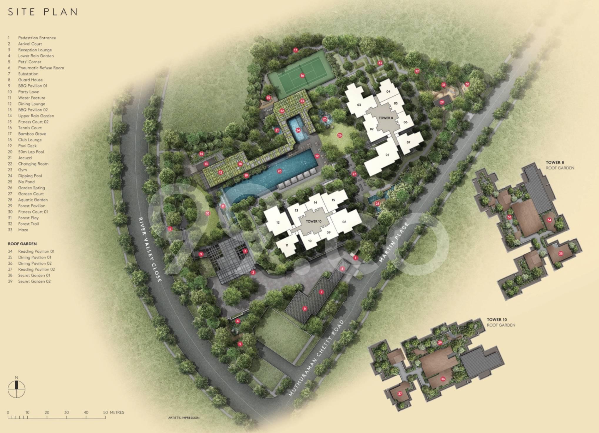Martin Modern site plan