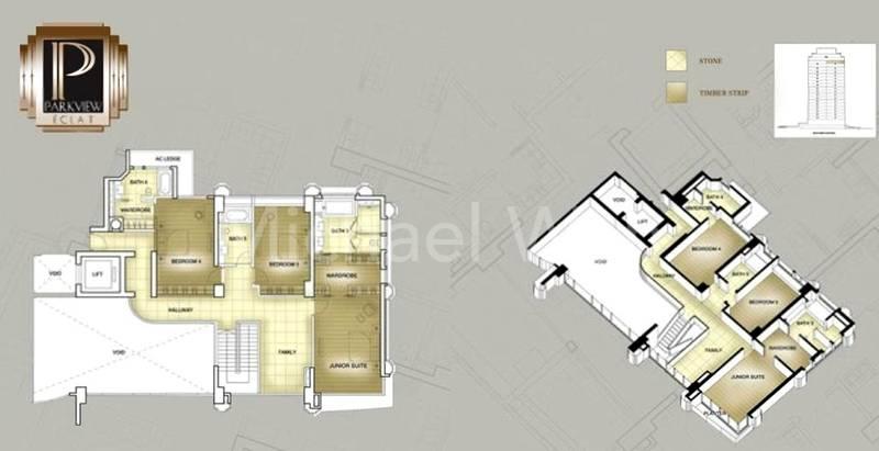 Parkview Eclat Duplex Penthouse #1x-01/5877sqft (Upper)