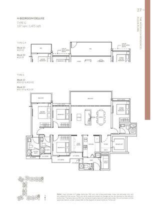 Type G-P 4 Bedroom Deluxe 1,475 Sqft