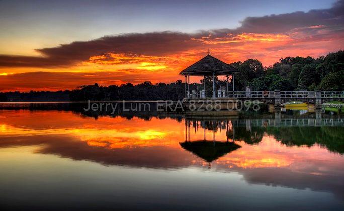 Sunset at Pierce reservoir