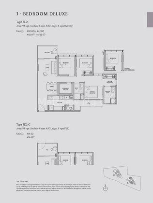 Type 3D2-3 Bedroom Deluxe 1,055 Sqft