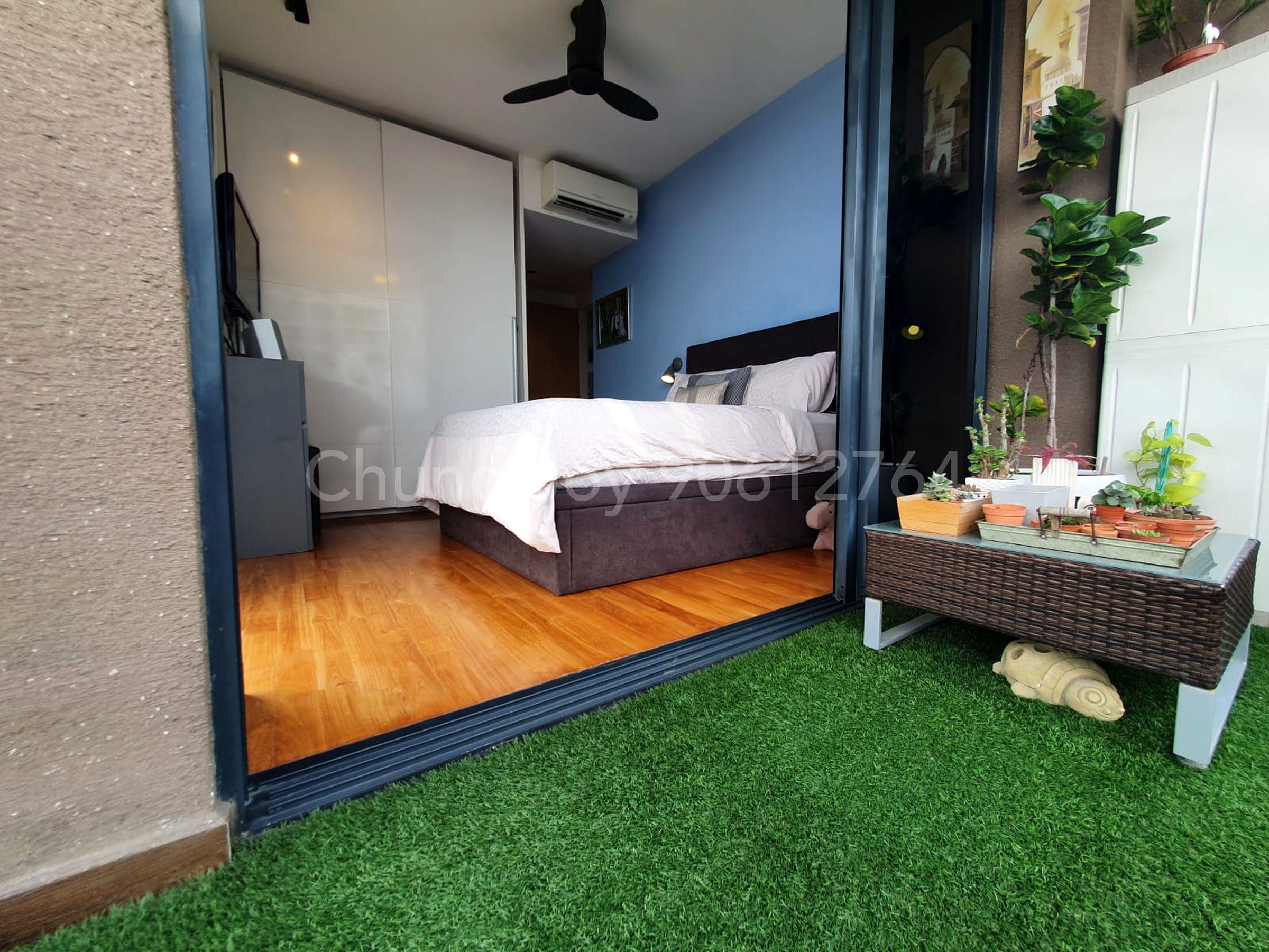 Bright open master bedroom