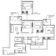 3 Bedrooms Type 3C1GP