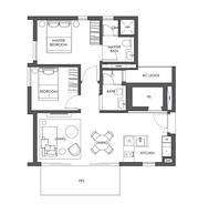 2 Bedrooms Type B3a