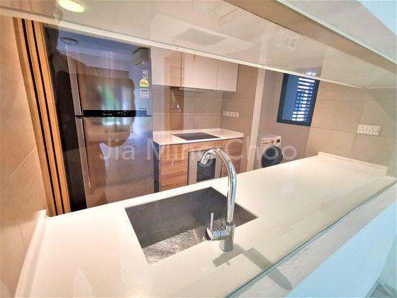 Modern Kitchen with White Goods, Oven, Helper's Room, Yard
