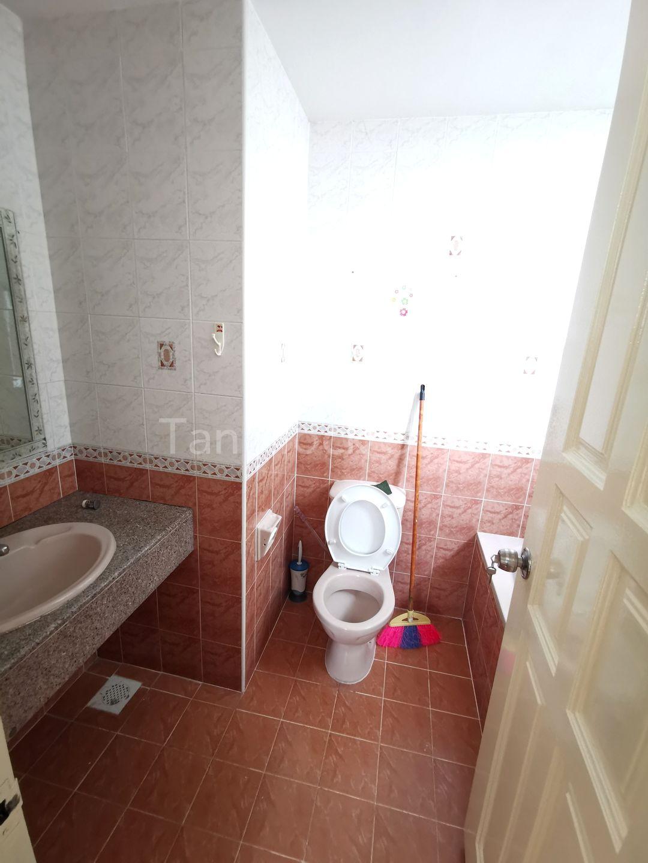 Attached Bathroom with Washing Basin, Toilet & Bath Tub