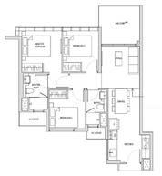 3 Bedrooms Type C1bh