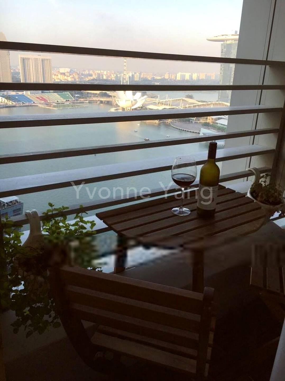 Wonderful balcony setting with beautiful bayview