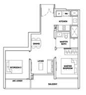 2 Bedrooms Type 2BRC2b